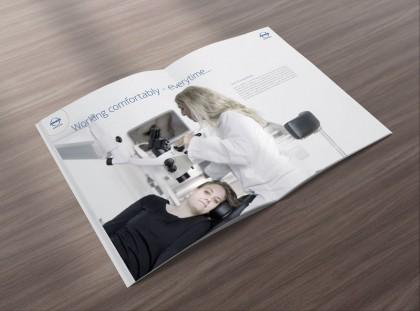 Broschüre zum Thema Mikroskopie im HNO-Bereich für ATMOS MedizinTechnik