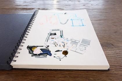 Diverse Illustration von Saugern und HNO-Einheiten für ATMOS MedizinTechnik