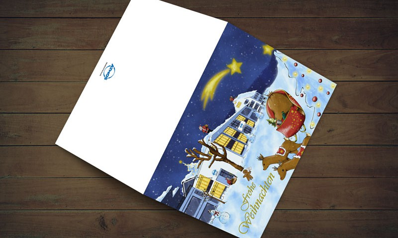 Weihnachtskarte für ATMOS MedizinTechnik
