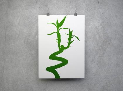 Grüne Bambussprosse.