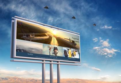 Banner für die Flugschule Air Profis.