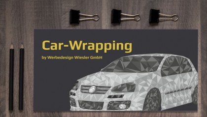 Flyer zum Themengebiet Car-Wrapping der Firma Werbedesign Wiesler.