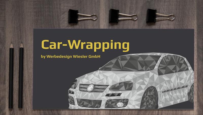 Car-Wrapping Flyer Werbedesign Wiesler