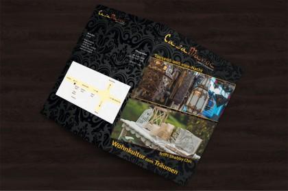 Broschüren für das orientalische Möbelhaus Casa Maroc.