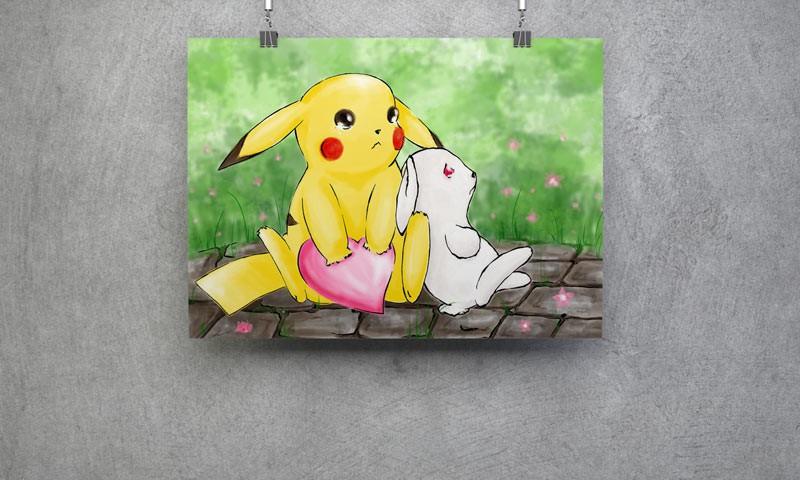Pikachu und Hase