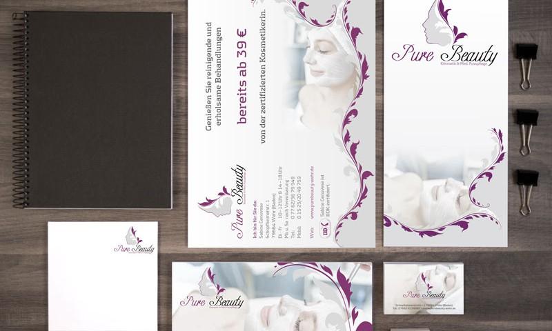 Geschäftsausstattung und mehr für Pure Beauty