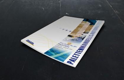 Broschüre für Palettenfördermittel von Stöcklin Logistik