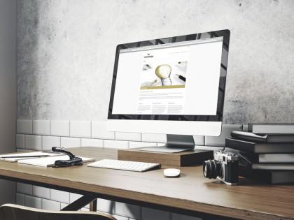Startseite der Firmenwebsite der Werbedesign Wiesler.
